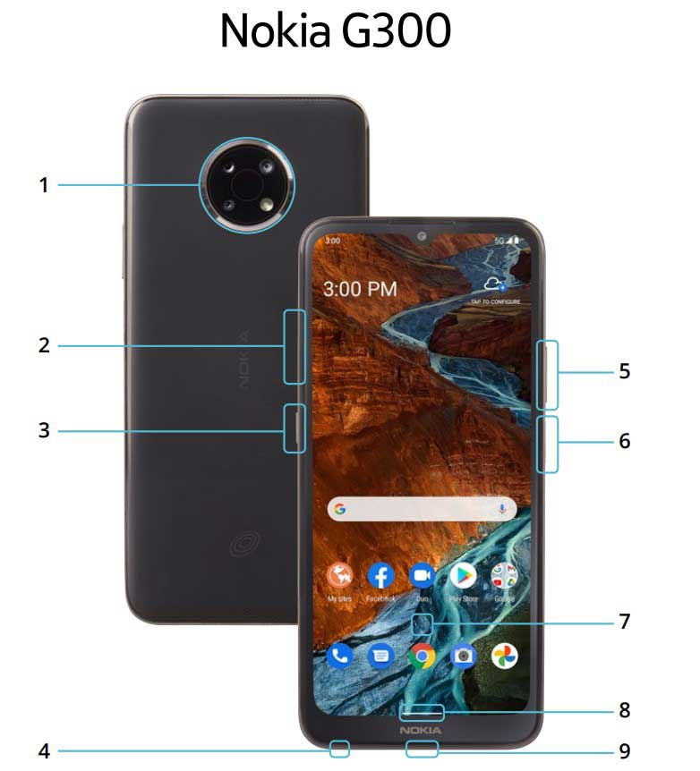 Nokia G300 5G official images and specifications leaked
