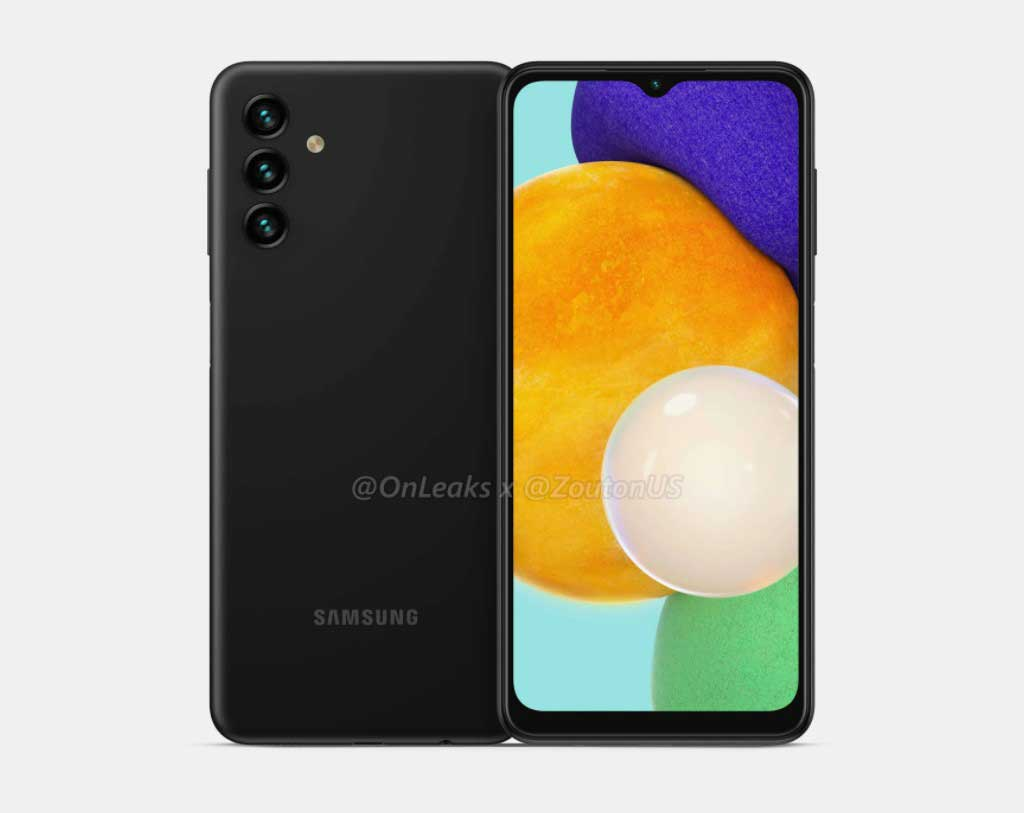 Samsung Galaxy A13 5G rendered image reveals a basic rear side design
