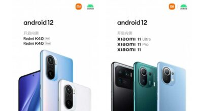 Xiaomi Mi 11 series and Redmi K40 Pro series are the first ones to get Android 12