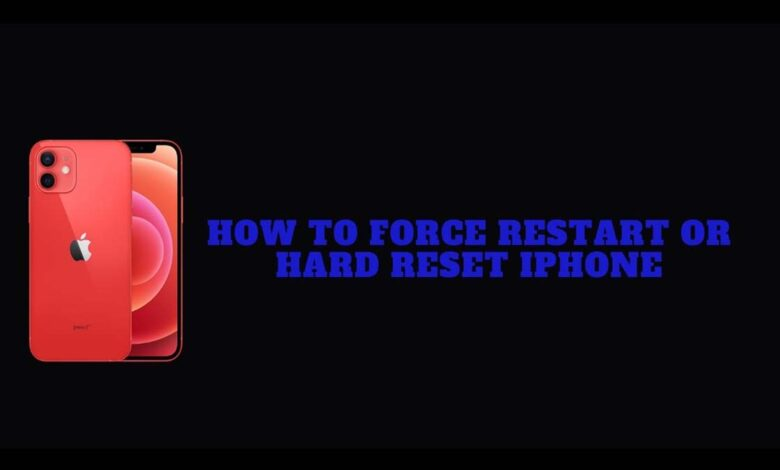 force restart hard reset iPhone